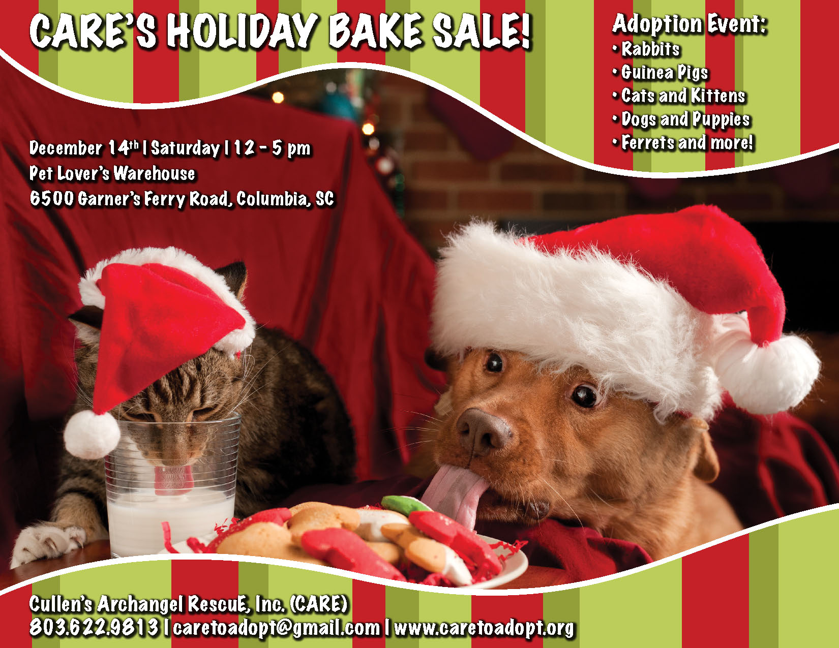 CARE Bake Sale & Adoption Event_December