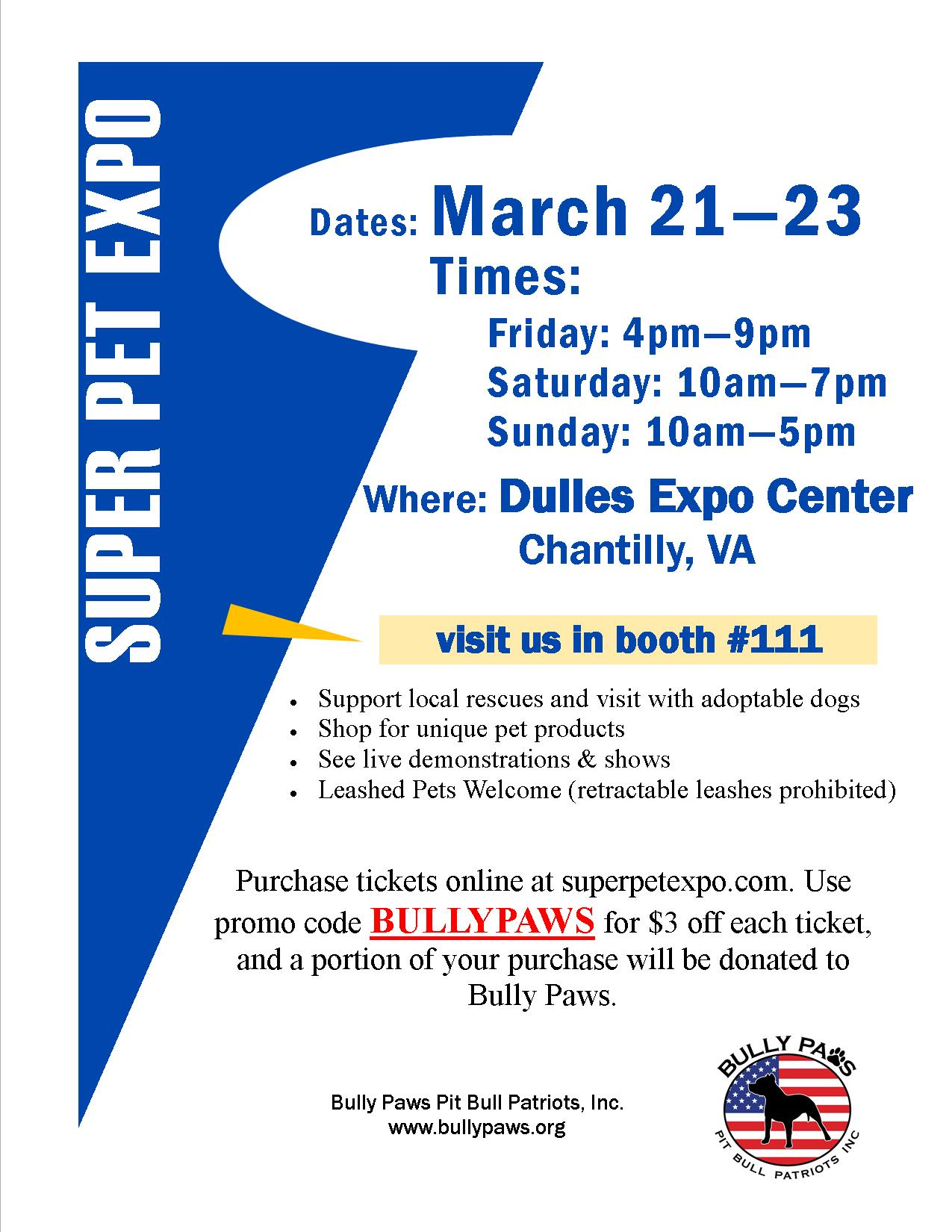 2014 Super Pet Expo Flyer