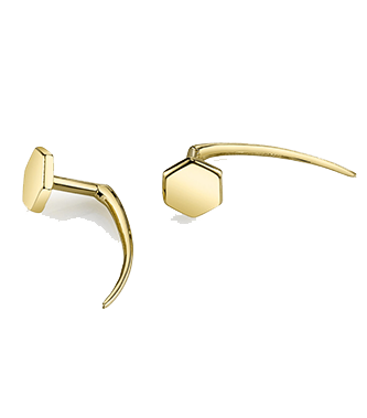 GABRIELA ARTIGAS Hexagon Infinite Tusk Earring