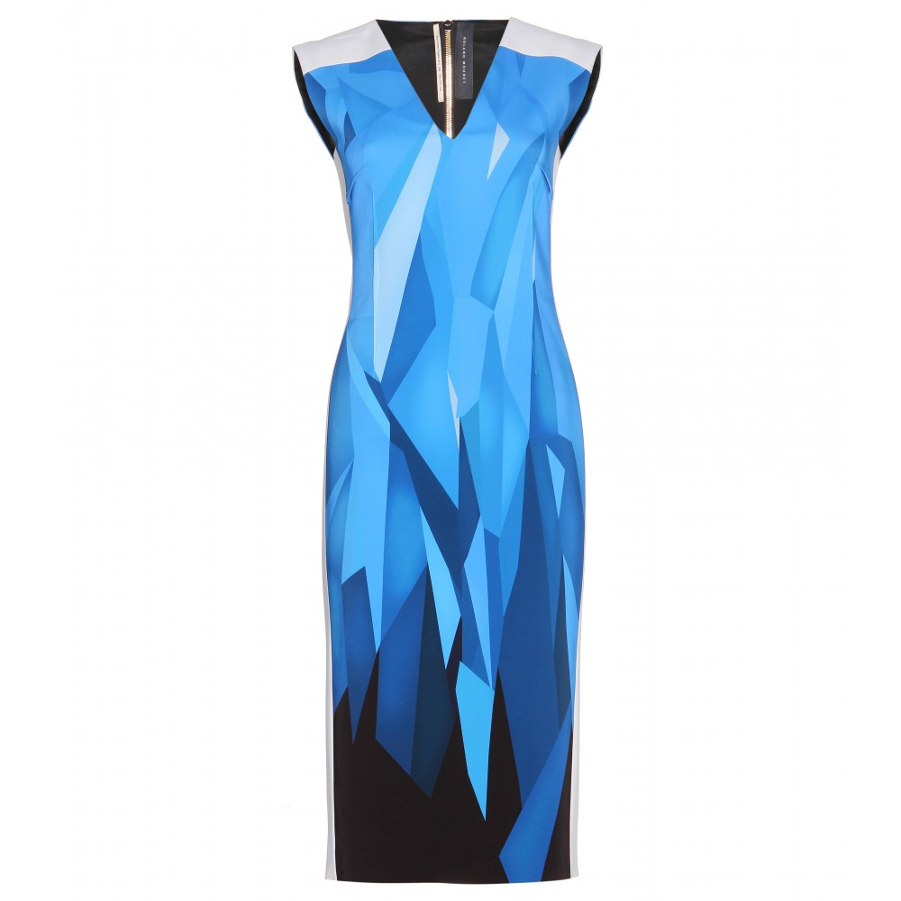 ROLAND MOURET  Wezen Printed Crepe Dress