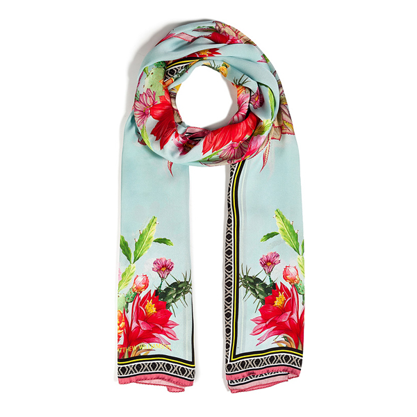 MATTHEW WILLIAMSON Silk Cactus Print Scarf
