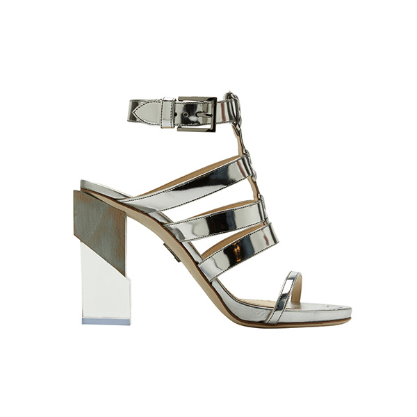 MAIYET Multi Strap Block High Heel Sandal