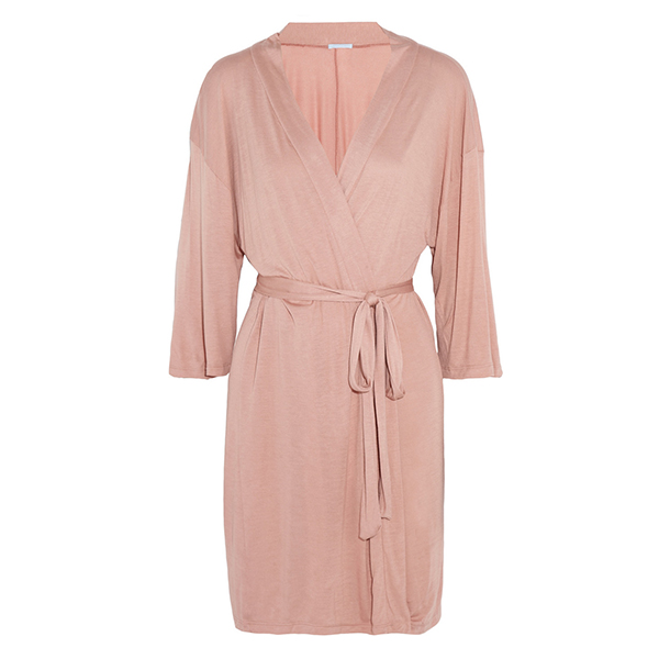EBERJEY  Pink Estelle Stretch Jersey Robe