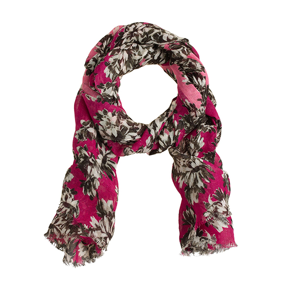J.CREW    Pink Photo Floral Scarf
