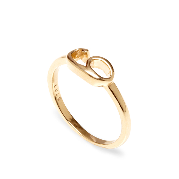 LULU FROST    Pink New Code 14th Rose Gold Ring
