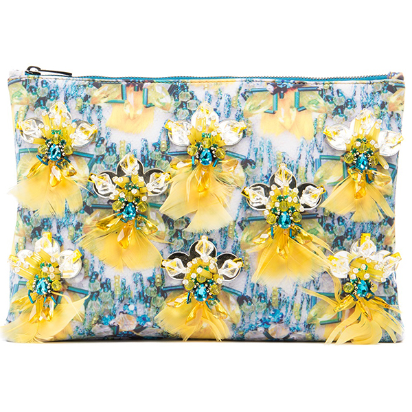 MARY KATRANTZOU Embroidered Clutch