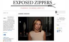 Exposed Zippers