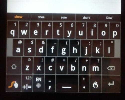 Kindle Fire com teclado Swype!