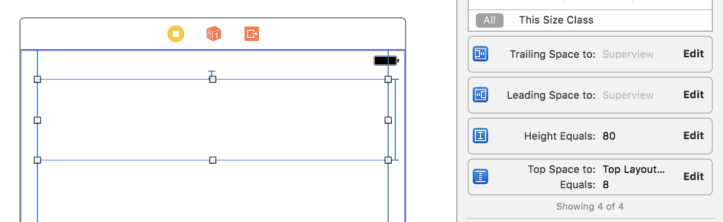 Constrained UIView