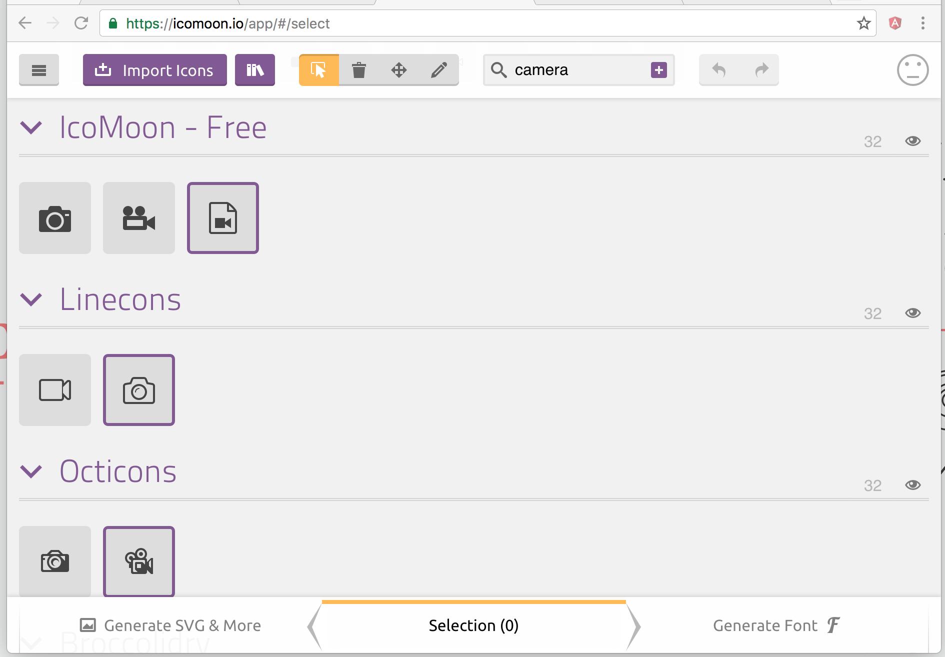 IcoMoon Application