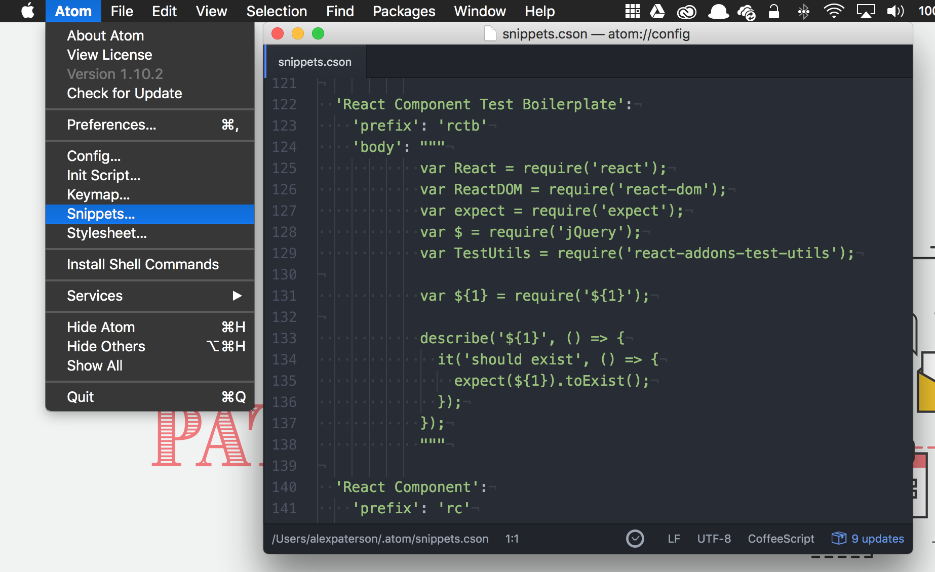 Atom Snippets
