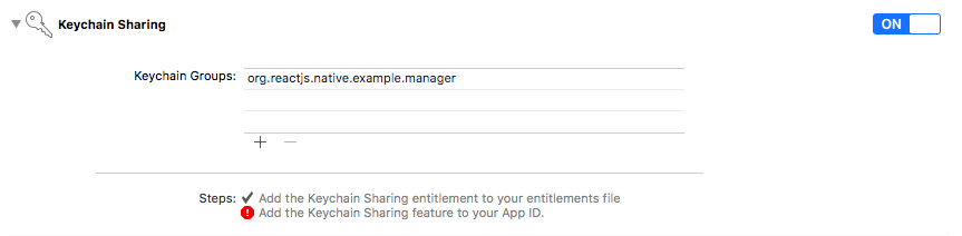 Add the Keychain Sharing Feature To Your App ID