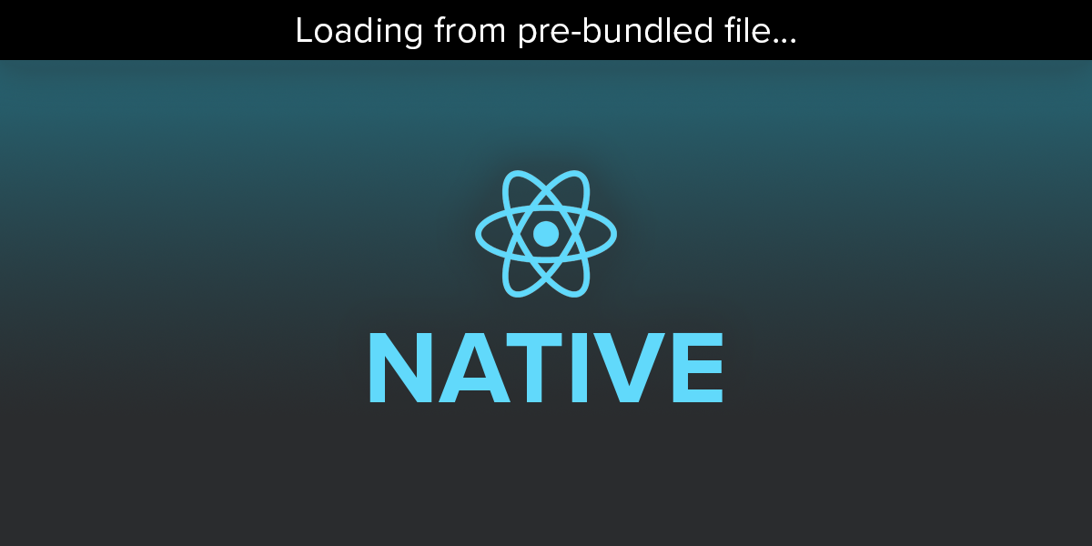 Why Is React Native Launching From A Pre-Bundled File?