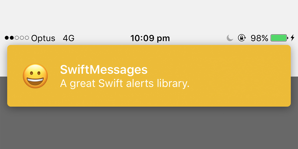 SwiftMessages: A Flexible Alert Library For iOS