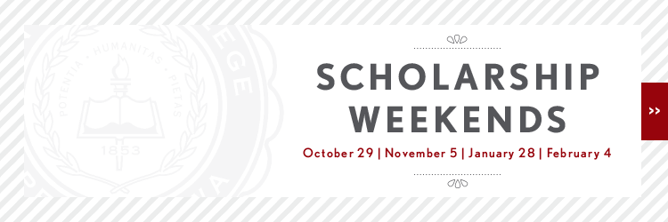 Central College Scholarship weekends: October 29, November 5, January 28 and February 4.