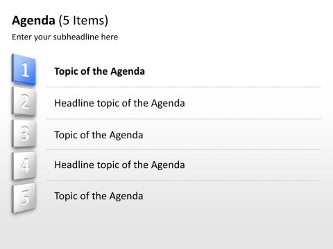 powerpoint agenda slide template .