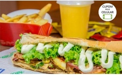 One Burger - Buritis: 1 ou 2 hambúrgueres + 1 ou 2 sucos de 300 ml - GroupON
