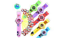 Children Projection Cartoon Watch Boy Girl Gift Electronic Toys Digital Watch Kids  3D Projector Electronic Toys Watches Y055 - AliExpress