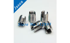 M8*1.25*15 Stainless Steel Self Tapping insert 302 slotted Self Tapping insert / Screw Bushing / Wire Thread Repair Insert - AliExpress