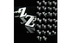 A-z 26 letter cufflinks male French nail sleeve shirt - AliExpress