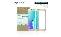 GNS Brand 3D Full cover 0.26mm 9H 2.5D 5.1 inch Tempered Glass Screen Protector for Samsung S6  Edge cambered GNS packaging - AliExpress