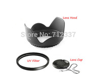 Lens Adapter 58mm Flower Lens Hood +UV Filter +Lens Cap for Canon EOS 400D 550D 500D 600D 1100D Nikon D80 D50 D7000DS DSLR - AliExpress
