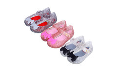 Mini melissa new style girls sandals Campana Zig Zag Hollow jelly shine kids shoes dogs ornament US size 6-11 for children - AliExpress