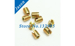 M6*1.0*12 Carbon Steel 302 slotted Self Tapping insert /Self Tapping Screw Bushing / Wire Thread Repair Insert - AliExpress