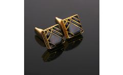 High Quality gold plated Gemelos Fashion  Cuff Links Wedding Mens Custom Enamel Cufflinks - AliExpress