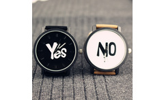 Fashion Brand Yes No Leather Strap Unisex Watches Men Quartz Women Dress Watch Sports Military Relojes Geneva Wristwatch AZ026 - AliExpress