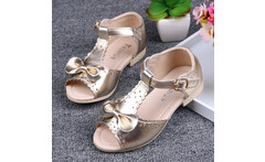 Princess sandals genuine leather female child sandals cowhide child sandals 2016 summer baby shoes - AliExpress