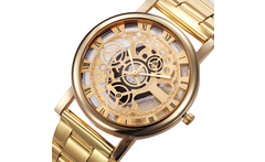 2016 New Design Hollow Women Watch Fashion Skeleton Female Wristwatch Gold Lady Dress Wrist Quartz Women Watch - AliExpress