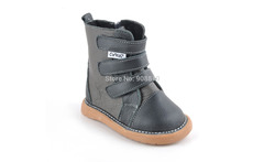 SandQ baby boy boot children soft leather snow strap boots for autumn black coffee grey boot kids fashion boys thing item - AliExpress