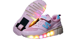 Children Heelys Shoes with Led Lights Kids Roller Shoes With Wheels Wear-resistant for Boys Girl Sneakers Zapatillas Con Ruedas - AliExpress