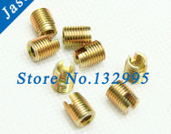 M10*1.5*18 Carbon Steel 302 slotted Self Tapping insert /Self Tapping Screw Bushing / Wire Thread Repair Insert - AliExpress