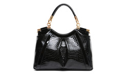 3 Colors Woman Red Blue Black Soft Surface Crocodile Shoulder Genuine Leather-Bag Women's Messenger Leather Handbag 2016 Fashion - AliExpress