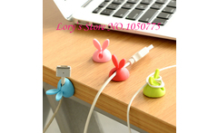 Lovely Rabbit Ear Shape TPR Wire Retainer Cable Winder Free Shipping - AliExpress