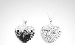 Collar + colgante Bubble Heart con incrustaciones SWAROVSKI ELEMENTS en color a elección. Incluye despacho - Groupon