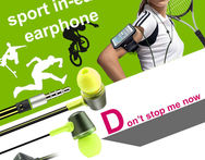 Buy 1 get 1 armband case free!! Sport in-ear Earphone Headphone Headset flat cable dual color with Remote and MIC - AliExpress