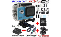 [2xBattery+Car charger+Bracket+16GB] SJ8000 Wifi Waterproof 30M Sports 4K 24fps HD Action Camera DV Video Recorder 2.0