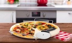 $7.990 por piedra para pizzas con base, manillas y cortador. Incluye despacho - Groupon