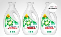 Pack de 3 o 6 botellas de 1,9 litros de detergente concentrado Ariel Power Liquid. Incluye despacho - Groupon