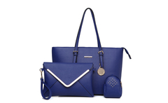 Women Office Bag Girl Messenger Bag 3Bags Per Set Bolsa Feminina Lady Handbag Casual Royal Blue Color Women Bag set customized - AliExpress