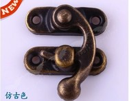 25PCS/LOT  Antique Brass Jewelry Box Hasp Latch Lock 28x33mm with Screws - AliExpress