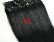Remy Human Hair Full Head Clip in on Human Hair Extensions 100% Real Human Hair 7pcs 16clips Many Colors - AliExpress