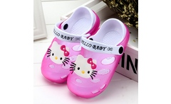 New Summer Kids Sandals Cartoon Hello Kitty Children Shoes 3D Mini Melissa  Girls Beach Slippers Antiskid Hole Bilayer Shoes - AliExpress