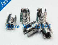 M3*0.5*6 Stainless Steel Self Tapping insert 302 slotted Self Tapping insert / Screw Bushing / Wire Thread Repair Insert - AliExpress