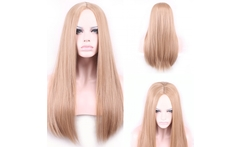 New fashion Long straight European westen central parting sexy ladies daily wear hair wig,high quality kanekalon synthetic hair - AliExpress