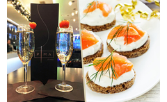 Bottle of Prosecco and Canapés for 2 @ The Hilton Liverpool £19 instead of £55 for a bottle of Prosecco and canapés for two people at The Hilton Hotel Liverpool - save 65% - wowcher