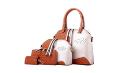 Embossed figure Women Bags Elegant Beautiful 4Bags Per Set fashion Women Composite Bag young lady Women Handbag shoulderbag Set - AliExpress